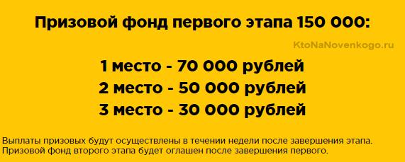 Призовой фонд конкурса от BetAdvert