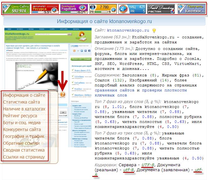 Бесплатный комплектный анализ сайта