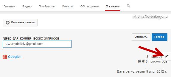 Где можно добавить пользовательские ссылки на канал