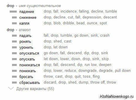Перевод слова Drop
