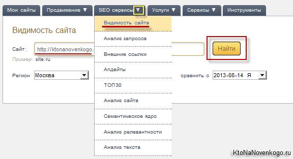 Как оценить видимость сайта через мегаиндек