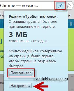 Мегабайты сэкономленные в режиме Турбо