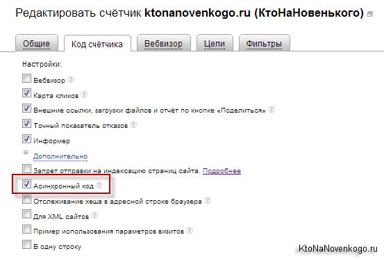 Редактировать счетчик Яндекса