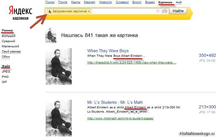 Результаты поиска по загруженному изображению в Яндексе