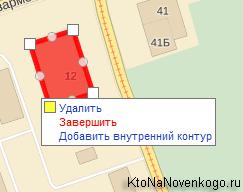 Рисование прямоугольника на Яндекс карте для показа расположения вашей организации