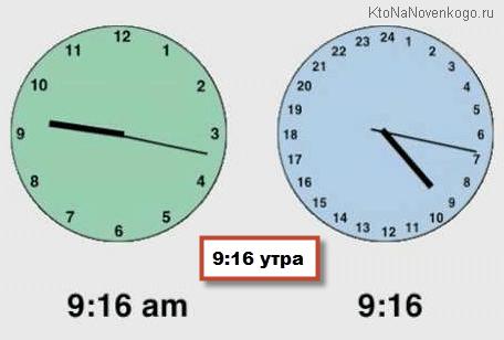 24 часовые стрелочные часы вместо pm и am