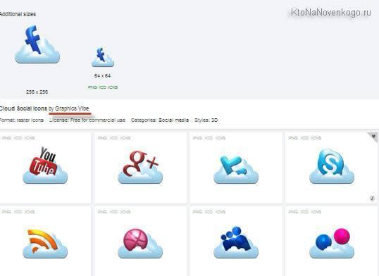 Серии бесплатных иконок в IconFinder
