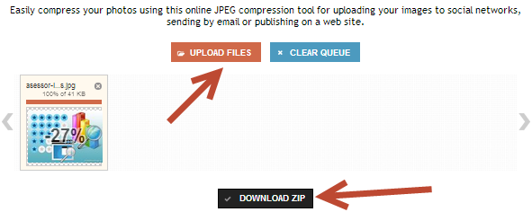 Сжатие Jpeg картинок в сервисе CompressJPEG