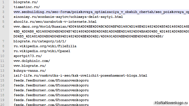 Удаляем http и https у всех обратных ссылок