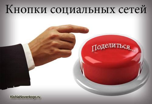 Блок Поделиться от Яндекса