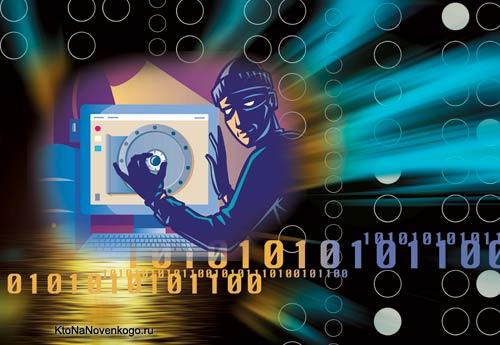 Взломщик подбирает код к сейфу