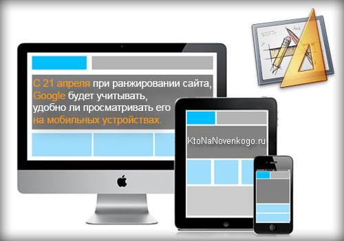 Как сайт отображается на экранах разных устройств