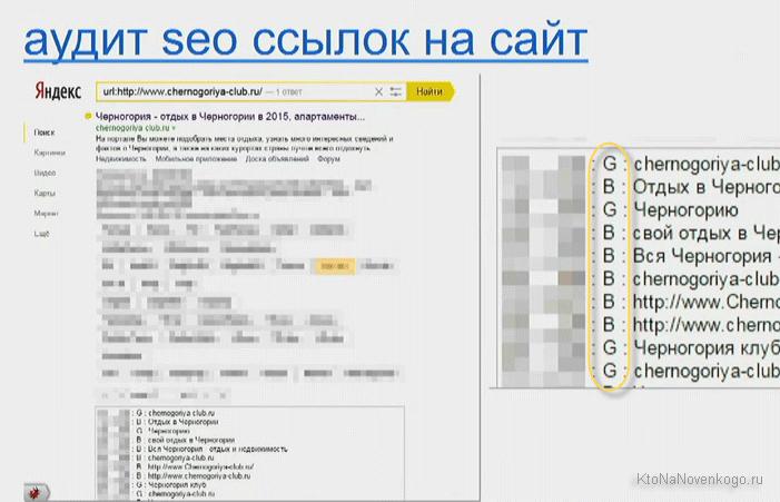 Аудит ссылок в Яндексе