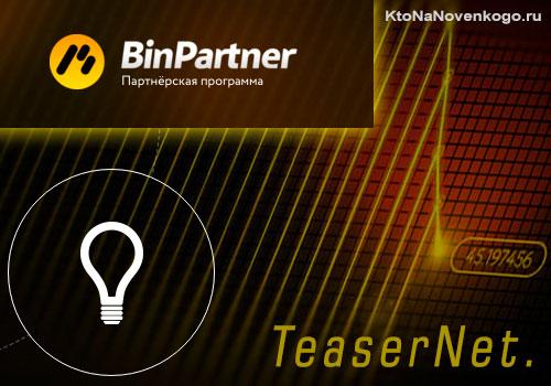 Тизернет + Binpartner