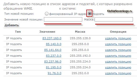 IP адреса, с которых пытались входить в ваш Вебмани-кошелек