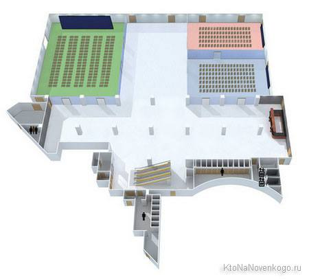 План помещения, где будет проходить конференция CyberMarketing