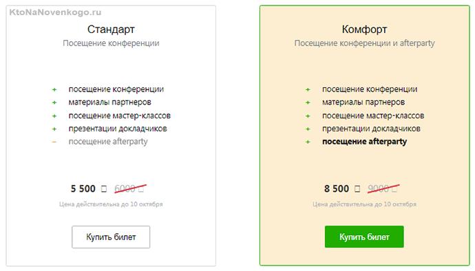 Стоимость билетов