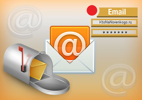 Коллаж из иконок электронной почты