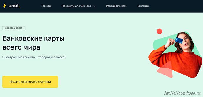 Enot.io – талантливый бухгалтер и кассир для любого сайта