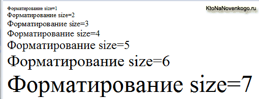 Как выглядят шрифты со свойствами xx-small, x-small, small, medium, large, x-large или xx-large