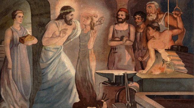 Гефест создает Пандору