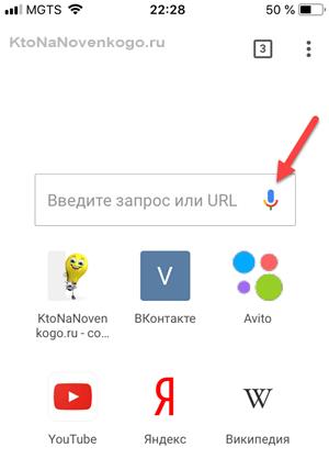 Голосовой поиск в браузере Гугла