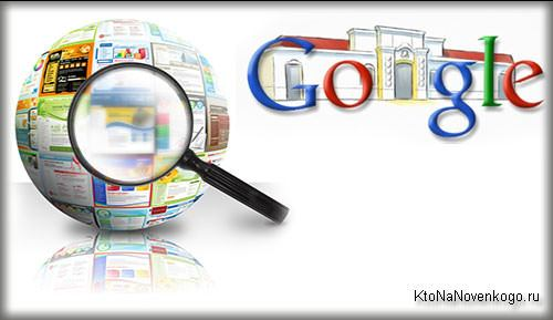 Коллаж из логотипов Гугла