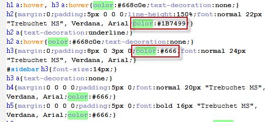Как задается цвет текста через CSS