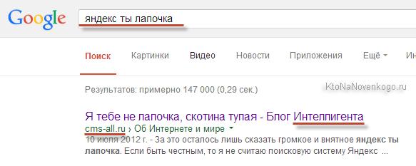 Автор запроса Яндекс ты лапочка