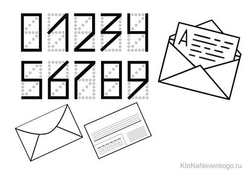 Письма с индексом