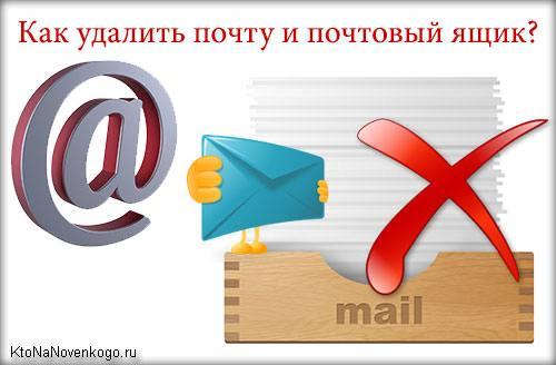 Как удалить почтовый ящик