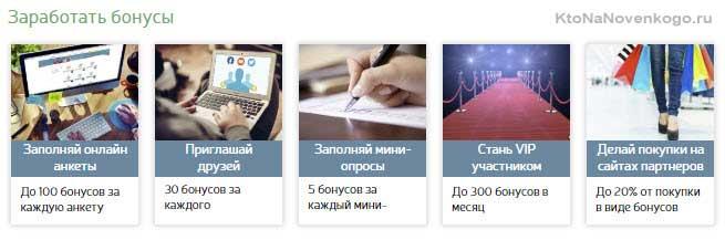 Как заработать бонусы в moemnenie.ru