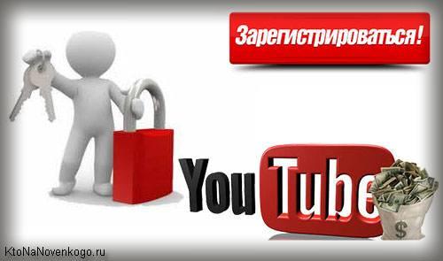 Коллаж на тему регистрации на видеохостинге