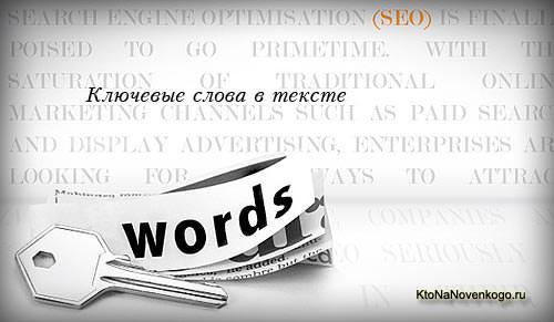 Ключевые слова в тексте и заголовках