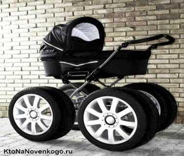 Коляска с большими колесами