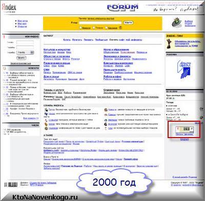 Яндекс в 2000 году