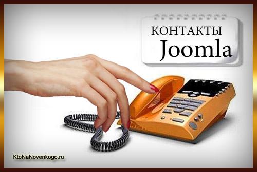 Контакты для сайта и форма обратной связи с помощью встроенного компонента Joomla