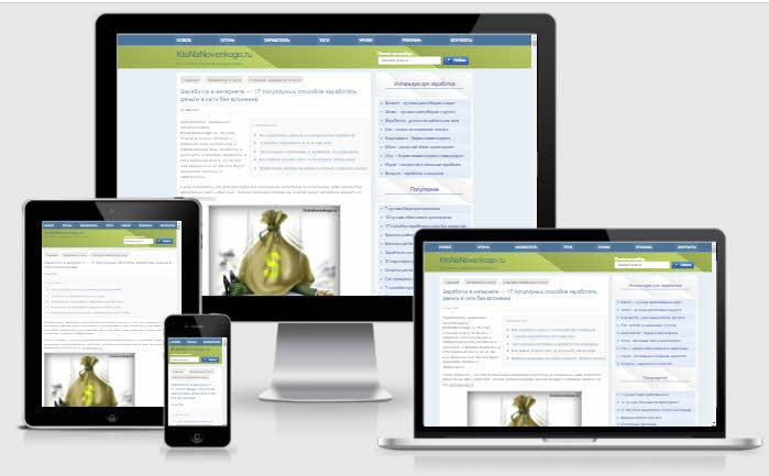 Как сайт ktonanovenkogo.ru отображается на экранах разных устройств