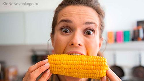 Поедание кукурузы