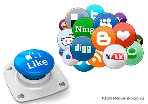 Набор кнопок социальных сетей от Лайкли