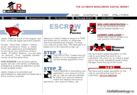 Liberty Reserve — регистрация и работа в популярной анонимной платежной системе, ввод и вывод денег из Либерти Резерва