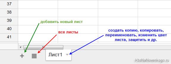 добавление листа в таблицу