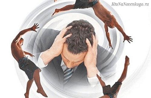 Образное отображения головокружения у мужчины