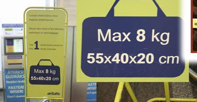 Ограничение на багаж в бюджетной авиакомпании