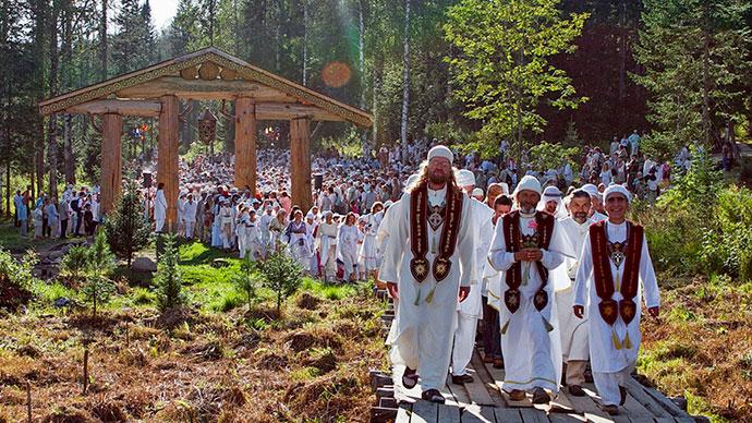 Служители секты Виссариона