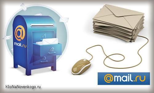 Коллаж из логотипов почты Майл.ру