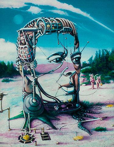 Сюрреалистическое изображение человека