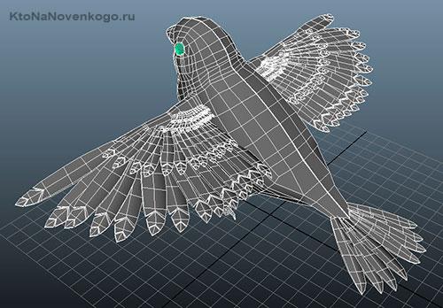 Модель птицы