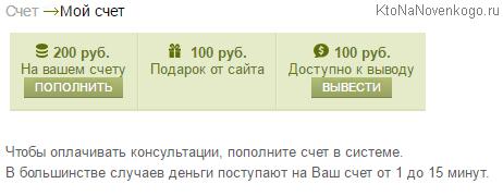 Заработанные в LiveExpert.ru деньги