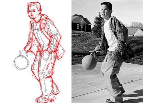 Референс мальчика баскетболиста